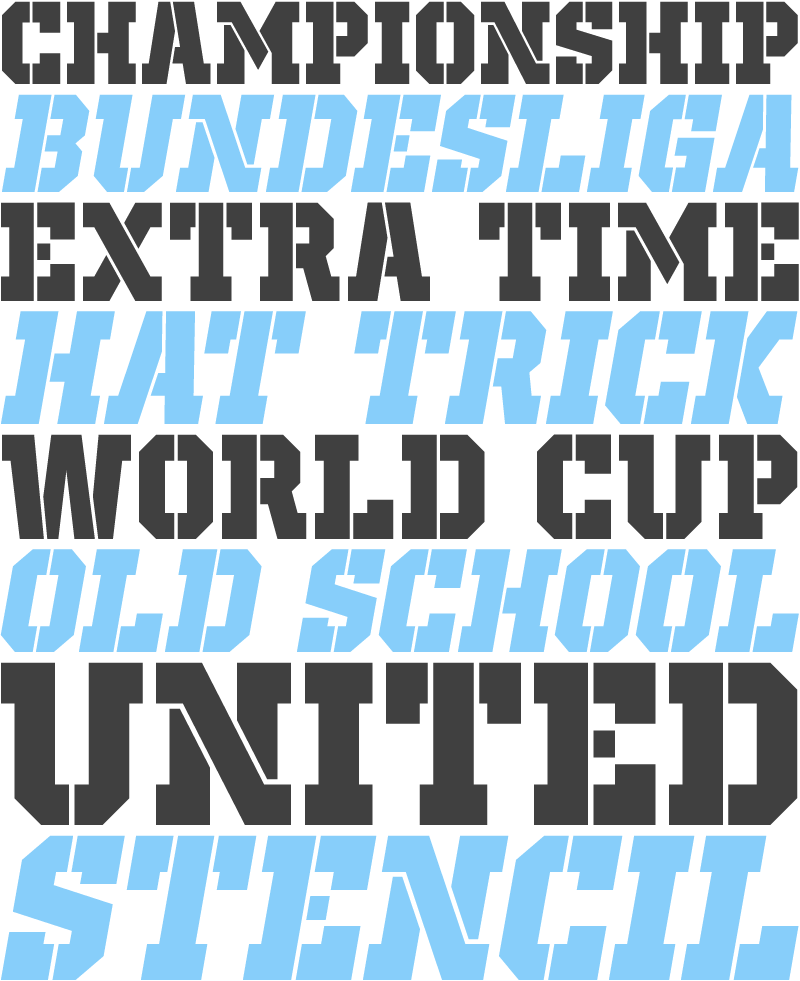 Old School United Stencil has more than 350 letters, so you will be able to use it in French, Spanish, Swedish, Icelandic, Polish, Lithuanian, Latvian, Romanian, Serbian, Russian, and so much more! More information on Dafont.